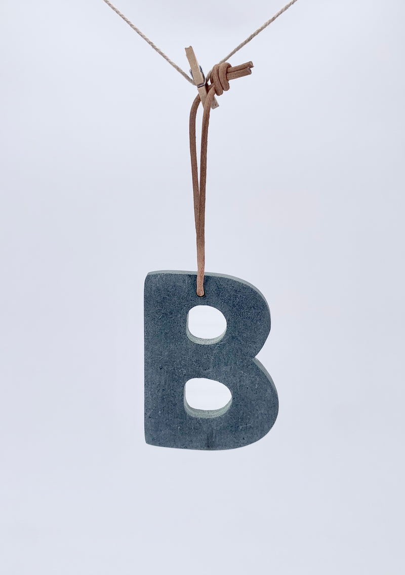 Marble alphabet A-Z mix grey 8cm