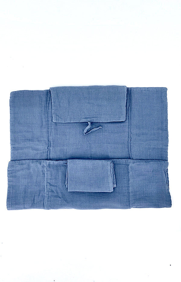 100% Cotton Changing Mat  - Space Blue