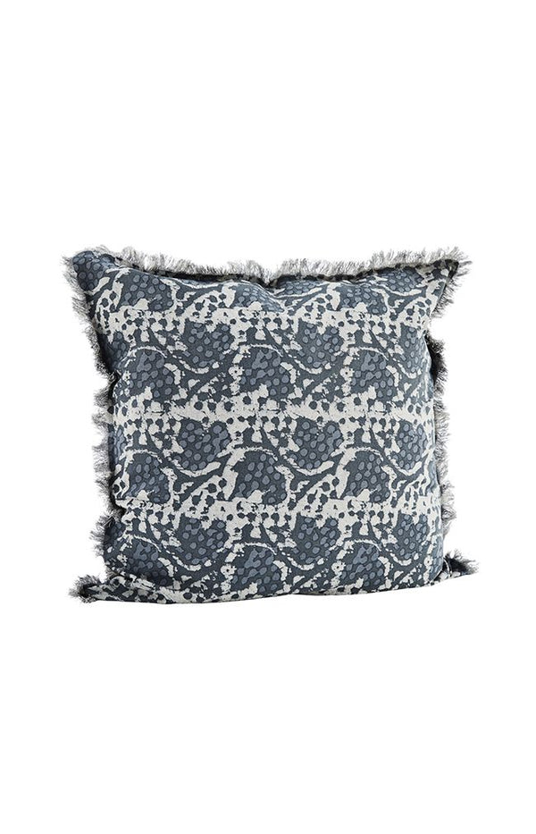 Printed Cushion W/ Fringes