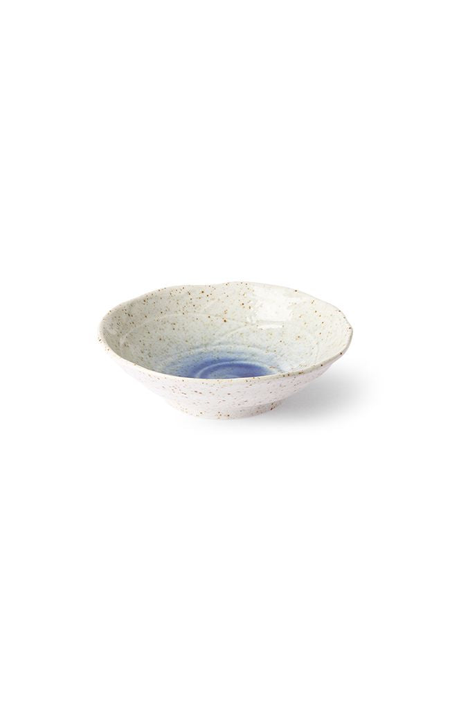 Kyoto Ceramics - Japanese Shallow Bowl - Wht/Blue