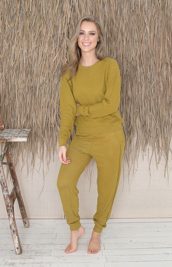 Davina Long Sleeve Top - Olive