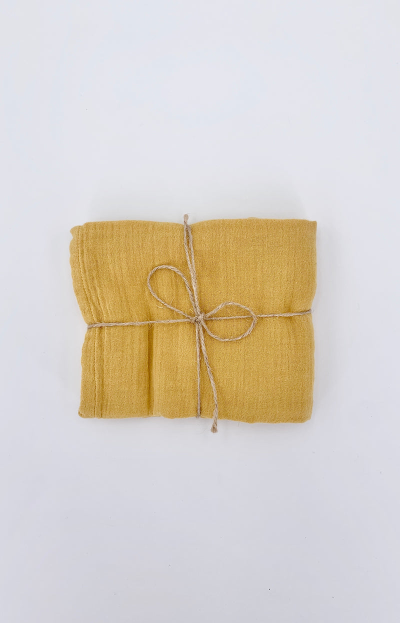 100% Cotton Muslin Cloth - Mustard