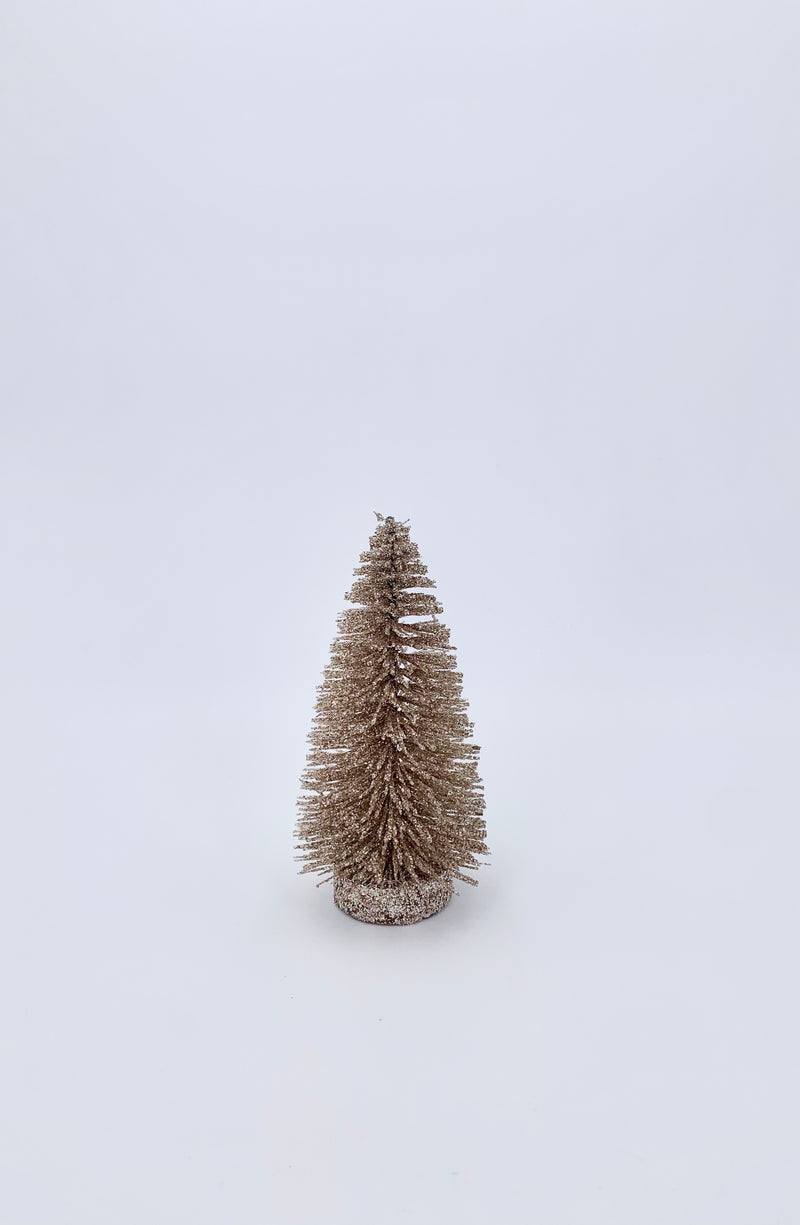 Glitter tree antique gold 14cm
