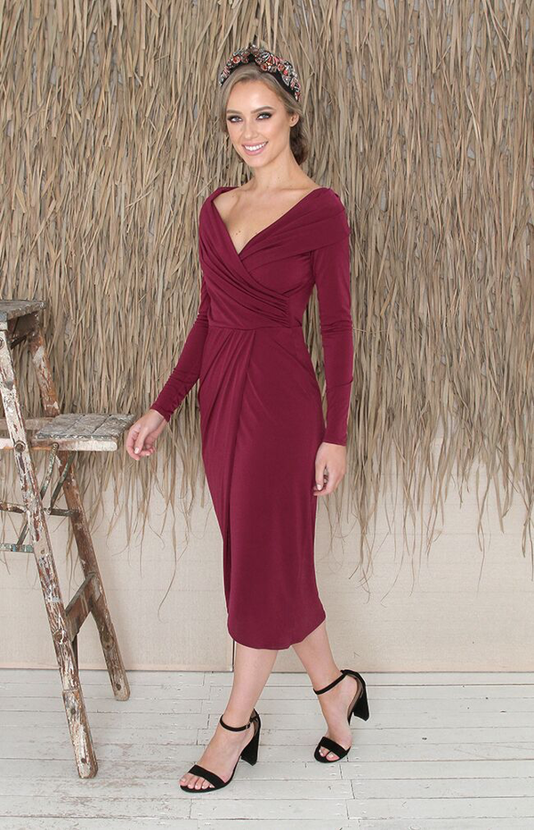 Coralie Dress - Berry