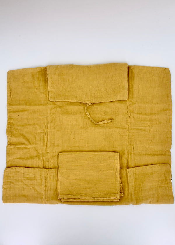 100% Cotton Changing Mat  - Mustard