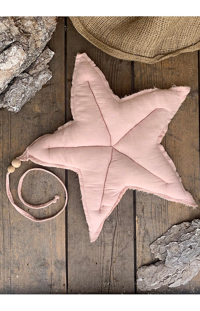 L Cotton Hanging Deco Star - Light Pink