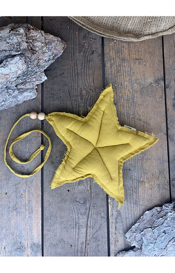 M Cotton Hanging Star - Mustard