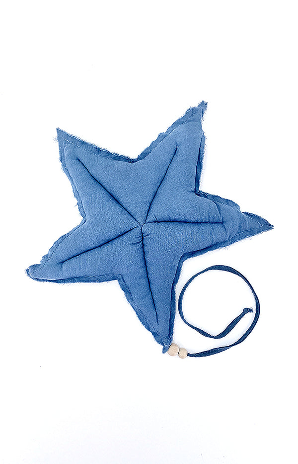L Cotton hanging Deco Star - Space Blue