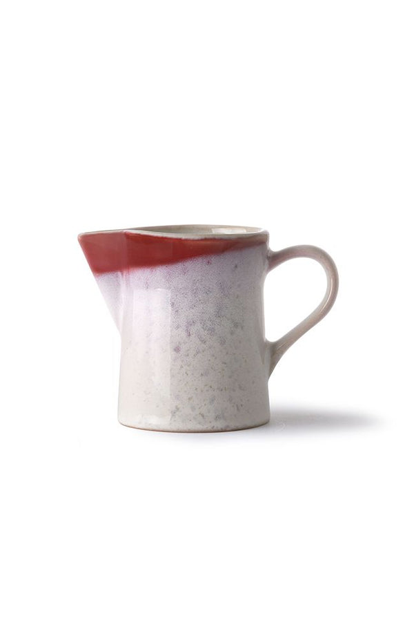 Ceramic 70's Milk Jug - Frost