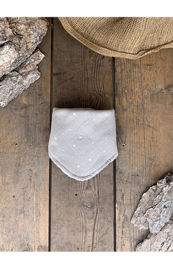 100% cotton Bib - Grey