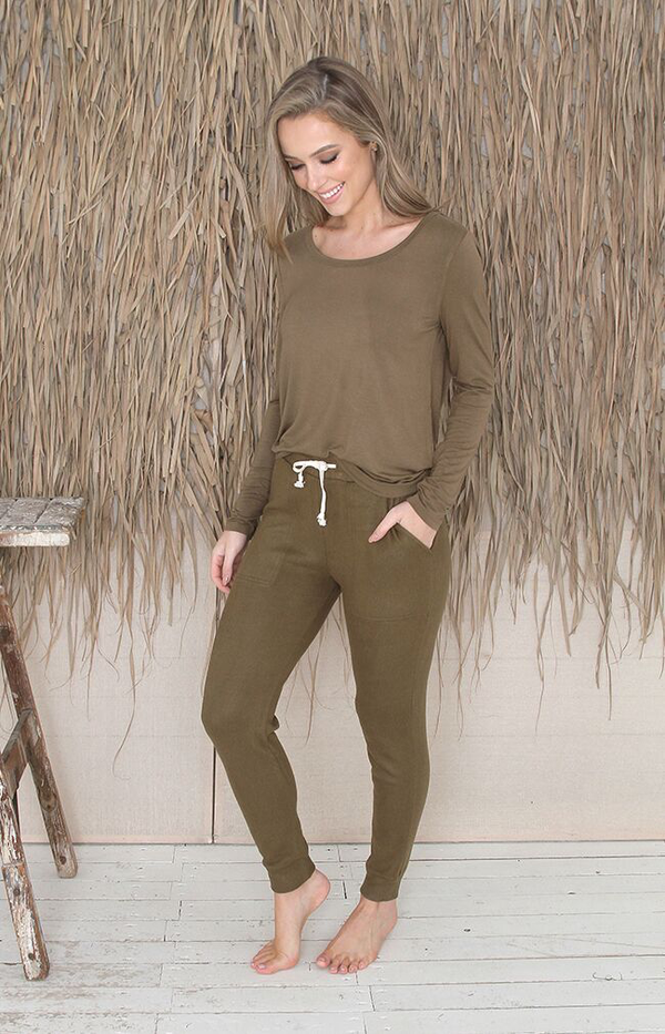 Eli Long Sleeve Top - Olive