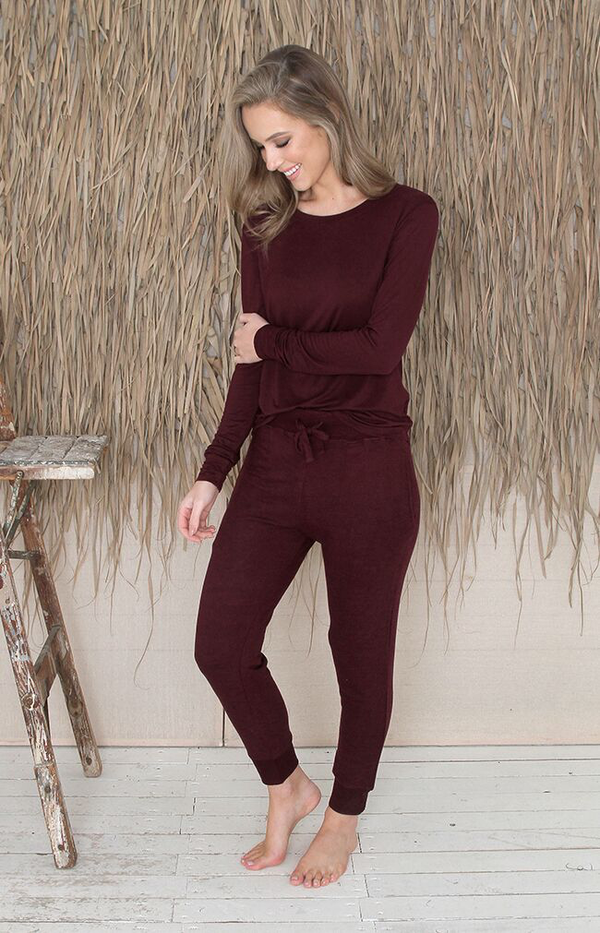 Kennedy Pants - Burgundy