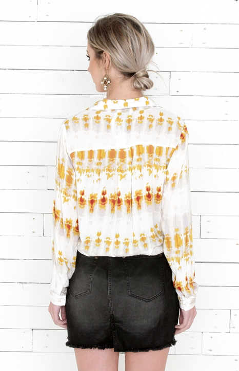 Tie Dye Blouse - Taupe