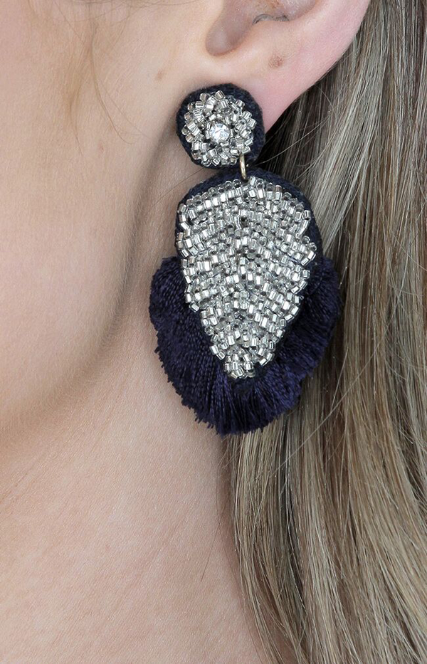 Crete Earrings - Navy