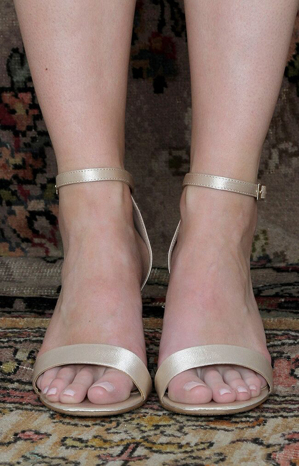 Cassie Heels - Antique Gold