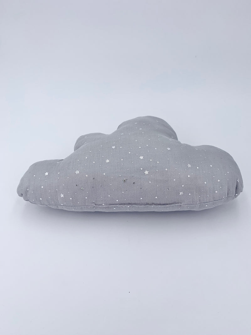 100% Cotton Cloud Pillow- Grey