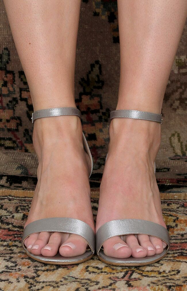 Cassie Heels - Antique Silver