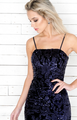 Ren Sequin Dress - Blue