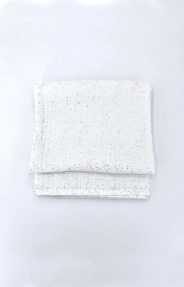 100% cotton Printed Blanket 100x100cm - Off White