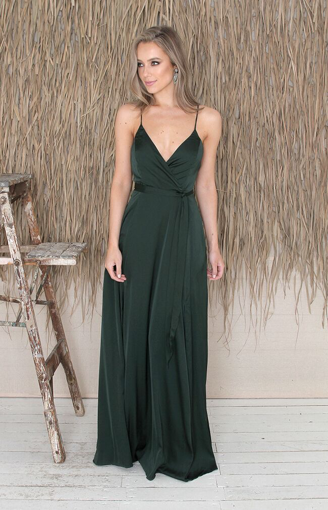 Hedi Gown - Forest Green