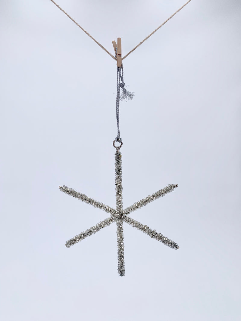 Line Beaded Star - Silver