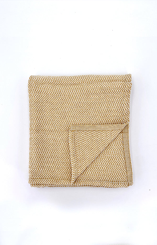 Straw Patterned Baby Blanket - Mustard