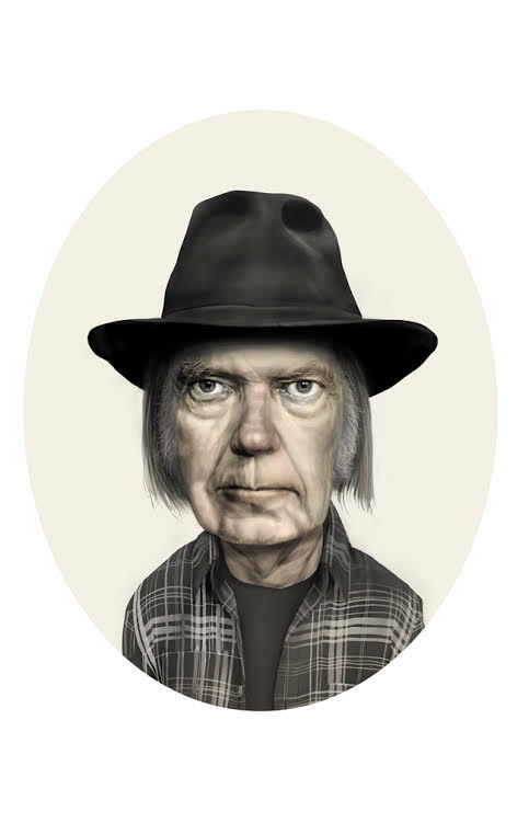 Neil Young A4 Print