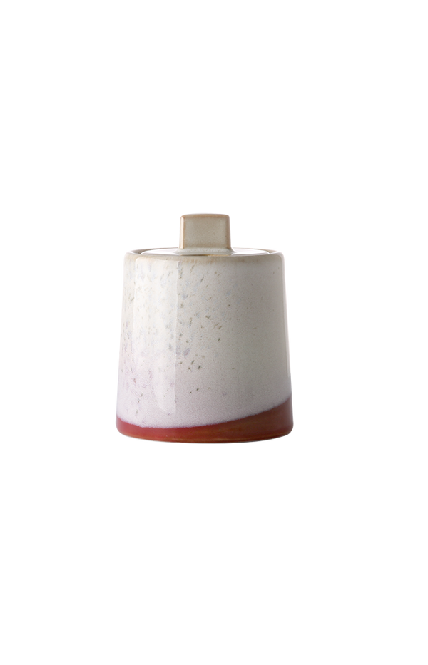 Ceramic 70's Sugar Pot - Frost