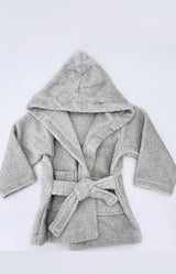 100% cotton Bathrobe 6-7 years - Grey
