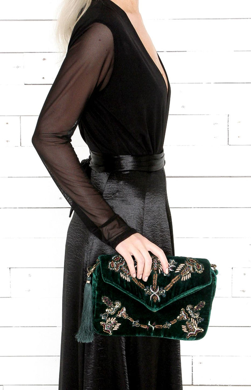 Dallas Clutch- Green