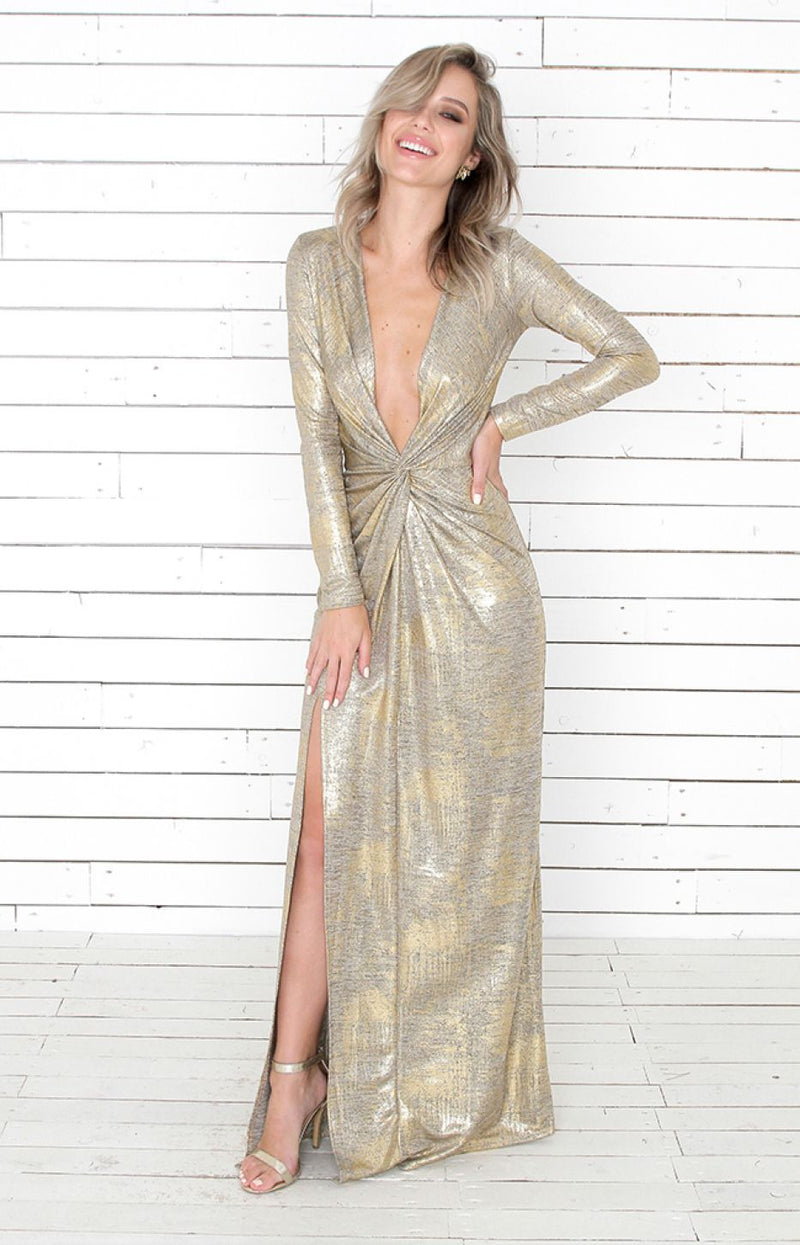 Monroe Gown - Gold