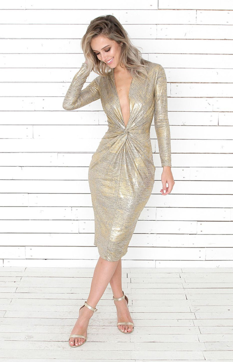 Loren Dress - Gold