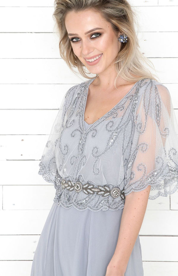 Ashley Cape - Light Grey - ONE SIZE