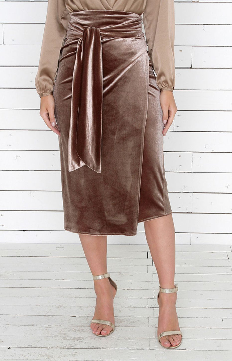 Blaire Skirt - Antique Gold