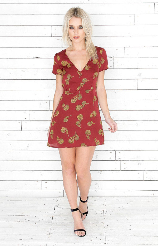 Josie Dress - Wine