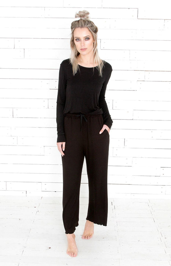 Frill Pants - Black