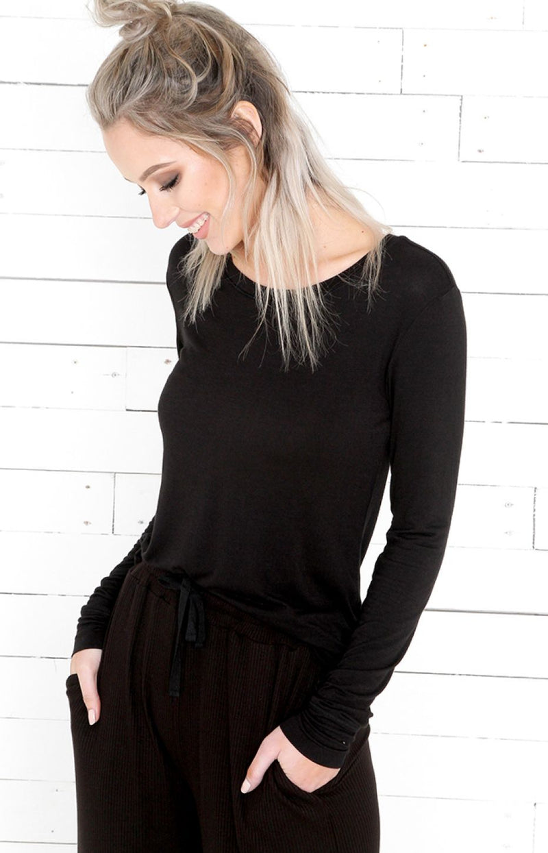 Long Sleeve Top - Black