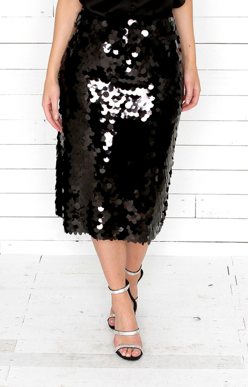 Disc Sequin Skirt