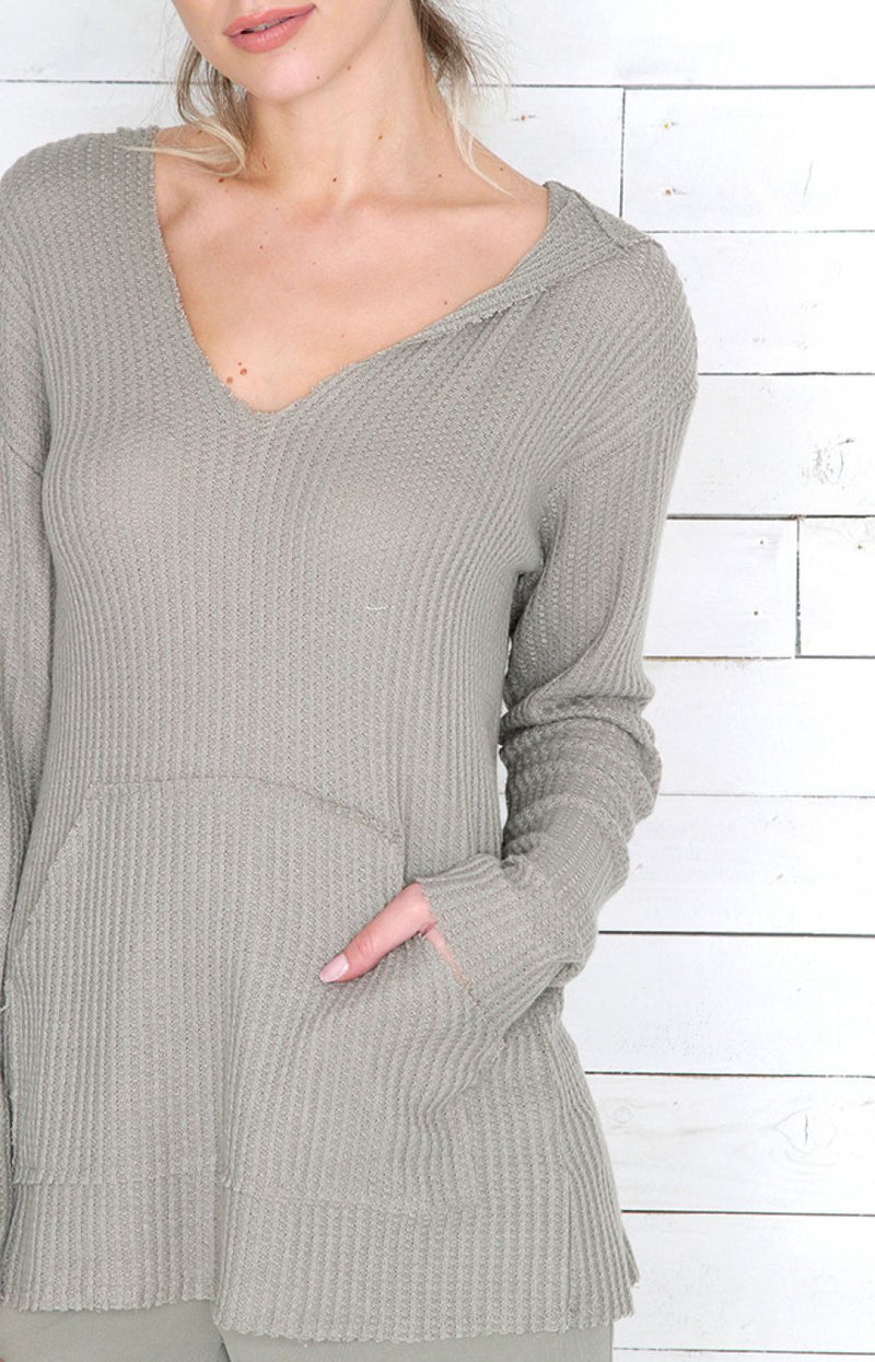 V-Neck Jumper - Green
