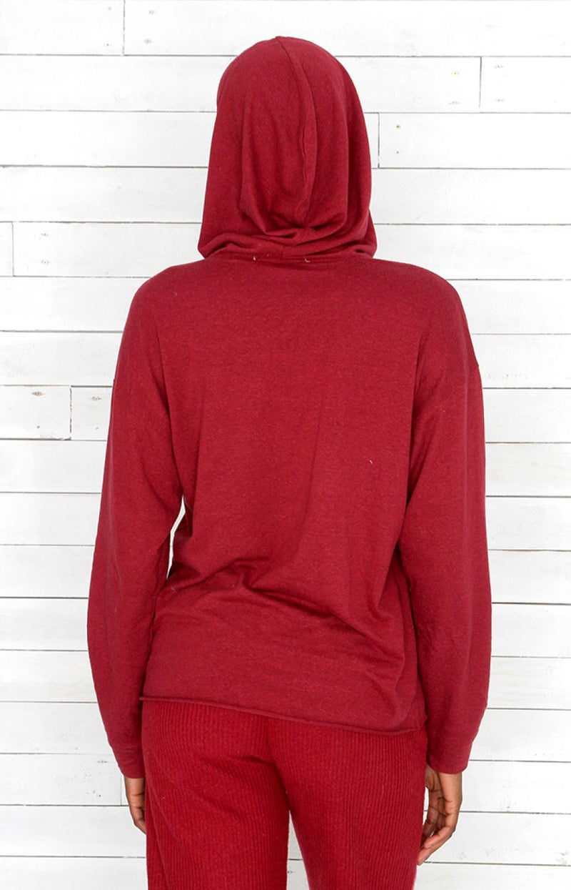 Hooded Jumper - Red