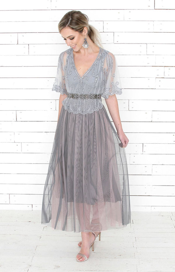 Evie Tulle Skirt - Grey