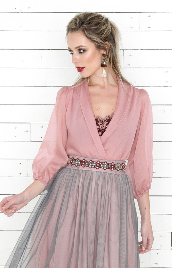 Evie Tulle Skirt - Blush Multi