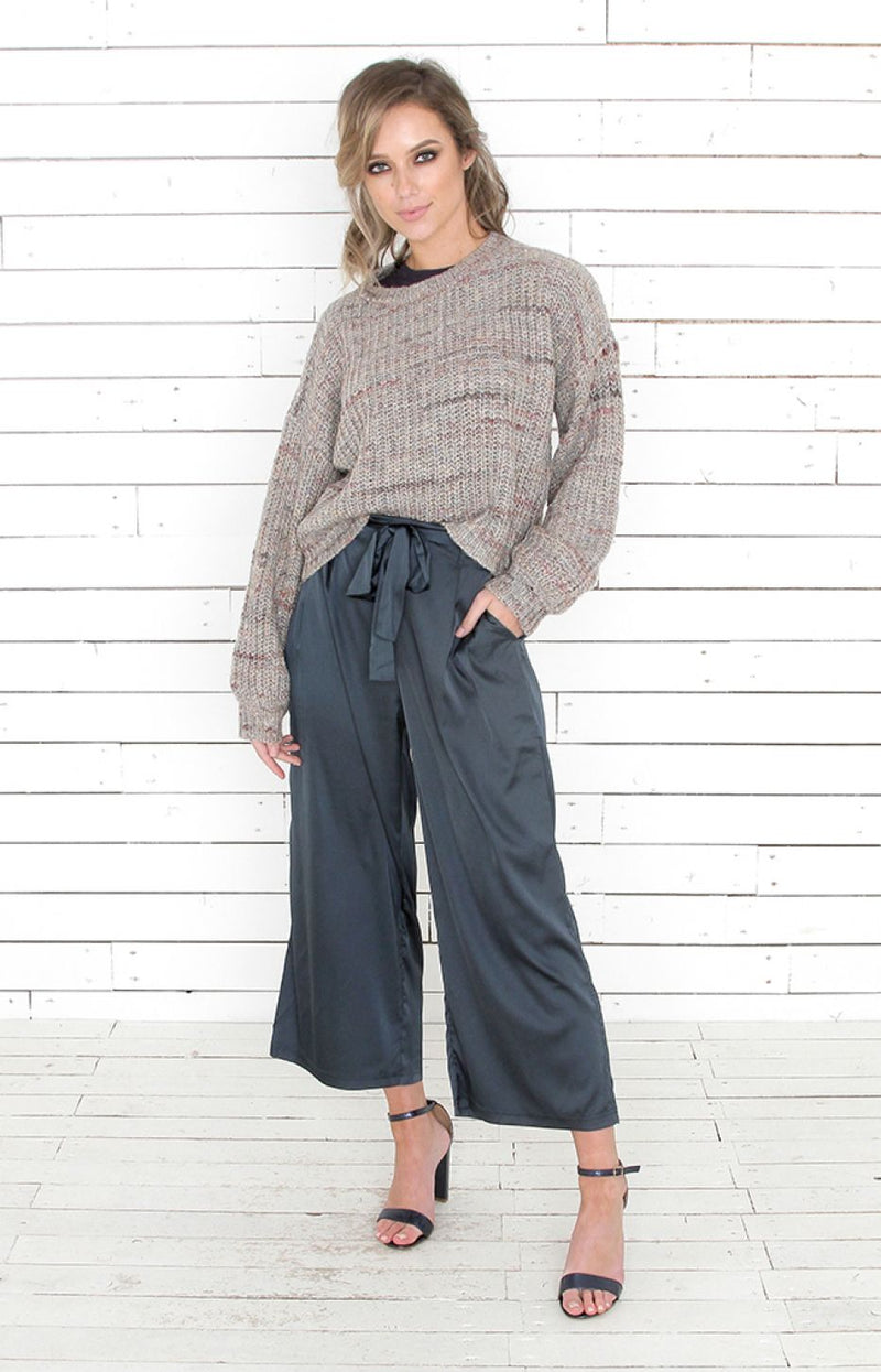 Silky Culottes - Midnight Navy
