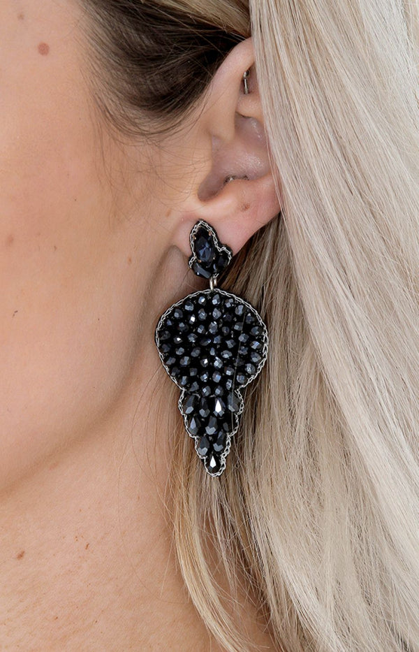 Rosario Earrings - Navy