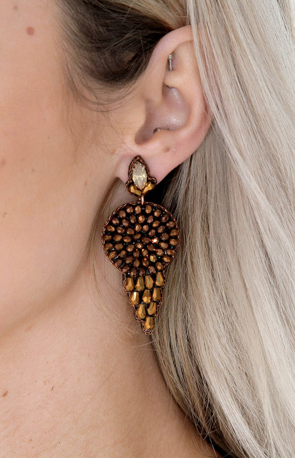 Rosario Earrings - Bronze