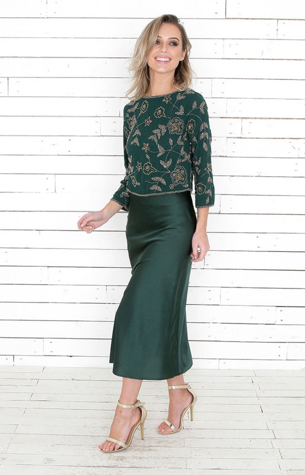Maggie Skirt - Hunter Green