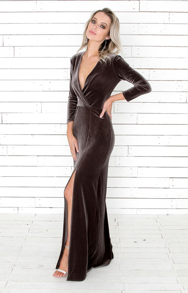 Loni Gown - Charcoal