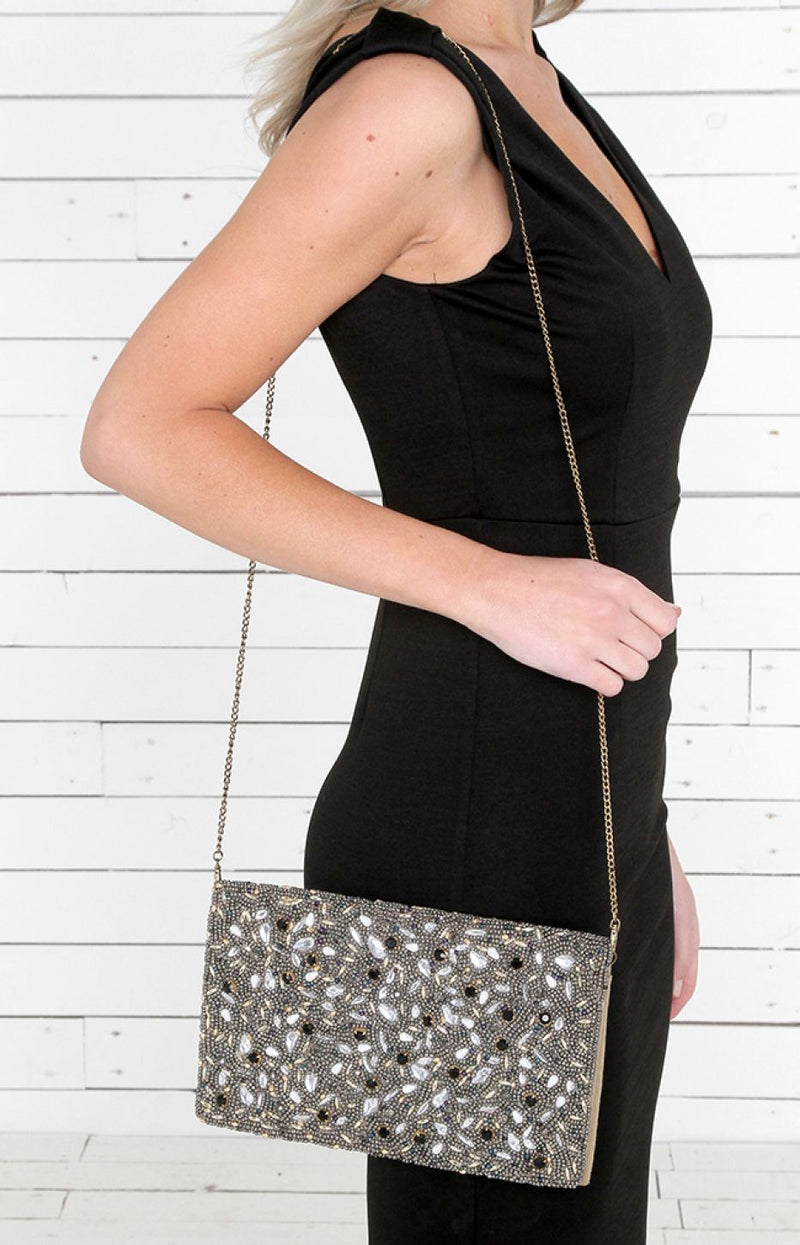 Safi Beaded Clutch