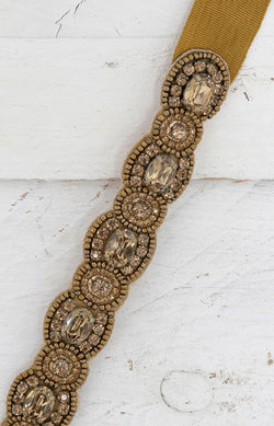 Zorra Beaded Belt - Gold