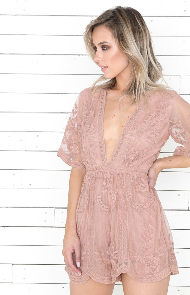 Mocha Boho Playsuit